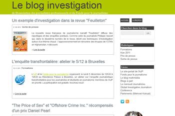 Le blog investigation de l'AJP et du Fonds pour le journalisme