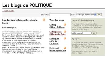 Les blogs de Politique