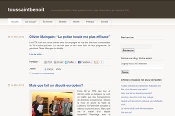 Le blog de Benoît Toussaint