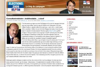 Elections 2009 : le blog de campagne