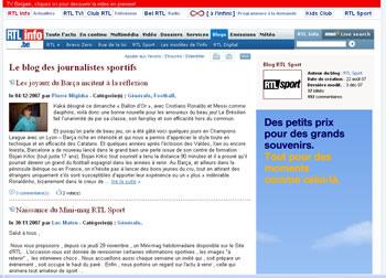 Le blog des journalistes sportifs (RTL)