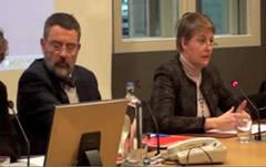 Les juges Luc Hennaert et  Sophie Annaert