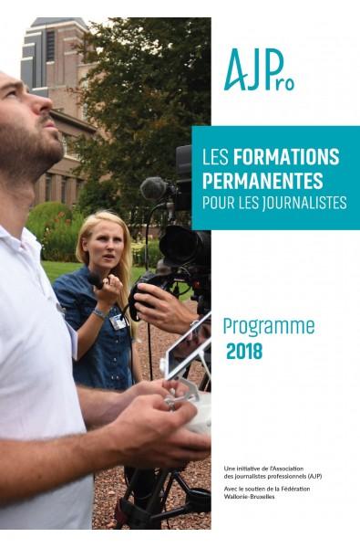 Le programme 2018 des formations en journalisme